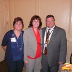 Donna Bowen, Yvonne Hughes, and Dan Weatherly (CEO - Bladen County Hospital)